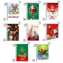 Christmas Theme Flag Garden Christmas Decorations For Home Hanging Flag Holiday Banner