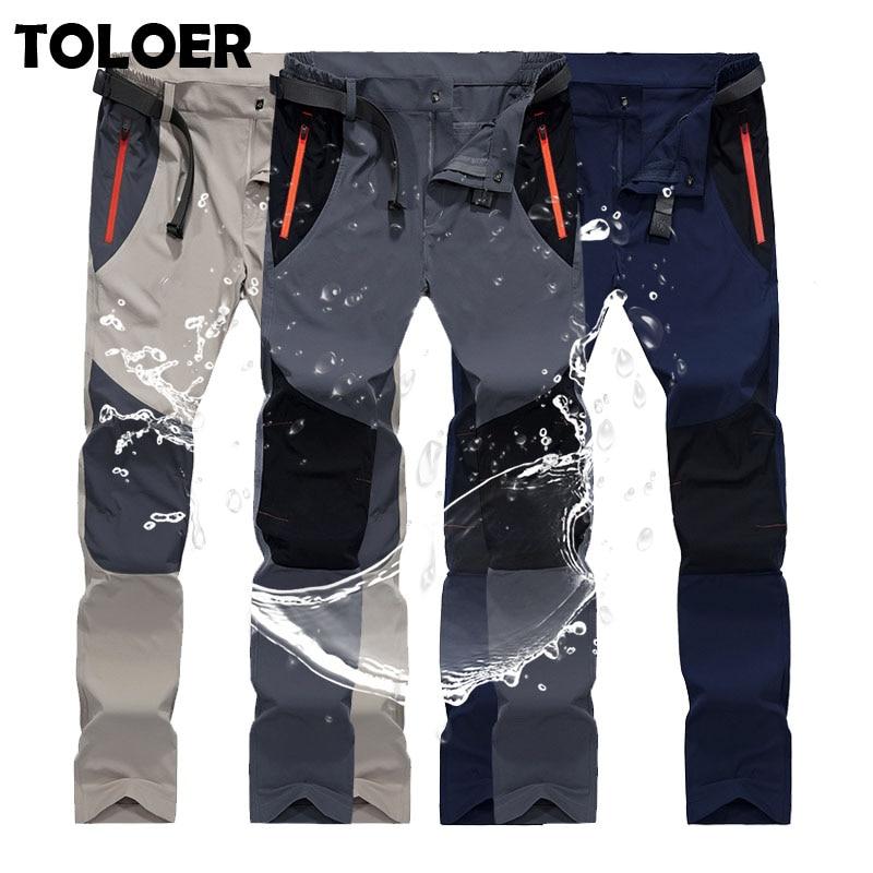 Outdoor Pants Men New Summer Hot Season Hiking Trekking Fishing Camping Climb Run Trousers Plus Size Oversized Waterproof Pants