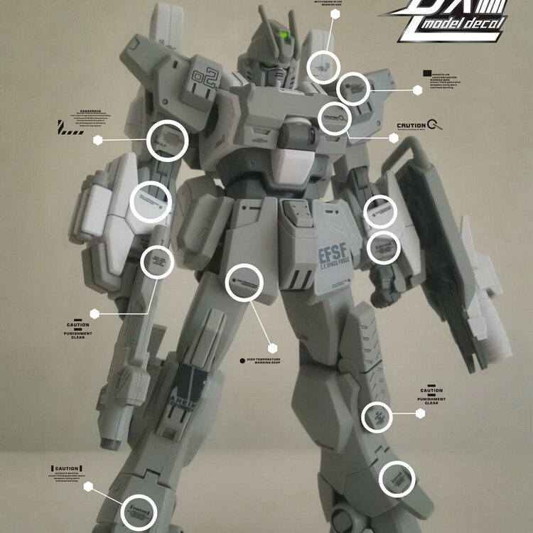 For Gundam Detail-up Decal C001+C002+C011 Wholesale