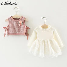 Sotida Baby Dresses 2017 Summer New Baby Girls Clothes Lace Bow tie Mini A-Line Baby Princess Dress Cute Cotton Kids Clothing baby girls summer dresses casual cotton kids bow lace ball gown princess dress children clothes