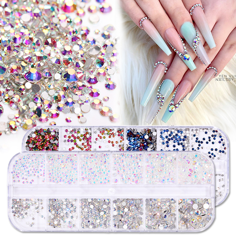Nail Art strass Gems Crystal Décoration Glitter Set