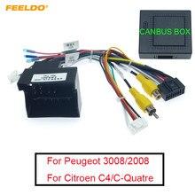 FEELDO 1 шт. 16-контактный автомобильный Android стерео проводки жгут проводов для Peugeot 3008/2008/Citroen C4/C-four/C4L/C3 XR/C5/DS6 # AM6226
