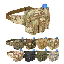Military Bag Outdoor Tactical Belt Waist Bag Portable Water Resistant Mobile Phone Wallet Travel Military Sport Waist Backpack outdoor water resistant backpack bag black