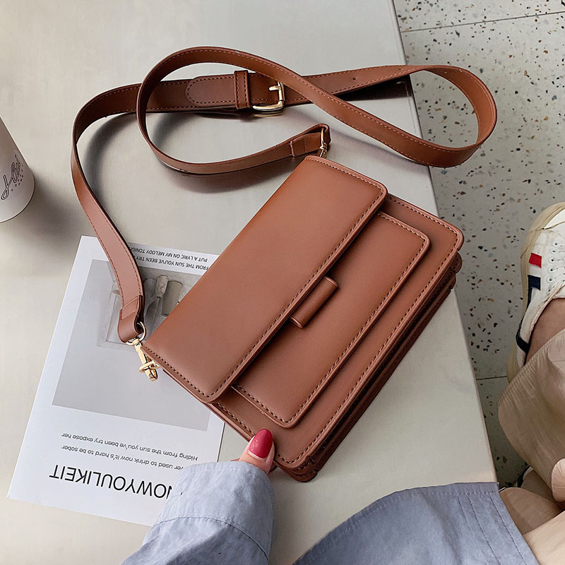 Solid Color PU Leather Crossbody Bags For Women 2019 Luxury Quality Shoulder Messenger Bag Female Handbags And Purses Clutch Bag