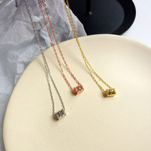 Thin Chain Drop Necklace For Women SHORT Chain With Cylinder Pendant Necklace Gift Choker Necklace drop shipping(China)