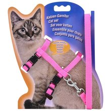 Nowa letnia uprząż dla kota regulowana uprząż nylonowa obroża z smyczą smycz dla kota i zestaw uprzęży dla kota i małego zwierzaka tanie tanio Pet Leash