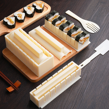 10 шт./компл. простая в использовании форма «сделай сам» для приготовления рисовых шариков, суши, кухонный набор инструментов для приготовле...