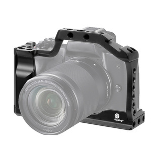 Image 2 - CNC Aluminum Camera Cage for Canon EOS M50 / M5 DSLR Case Cold shoe Mount Expansion Cover Quick Rease Plate Support Photography