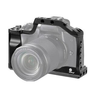 Image 2 - CNC אלומיניום מצלמה כלוב עבור Canon EOS M50 / M5 DSLR מקרה קר נעל הר הרחבת כיסוי מהיר Rease צלחת תמיכה צילום