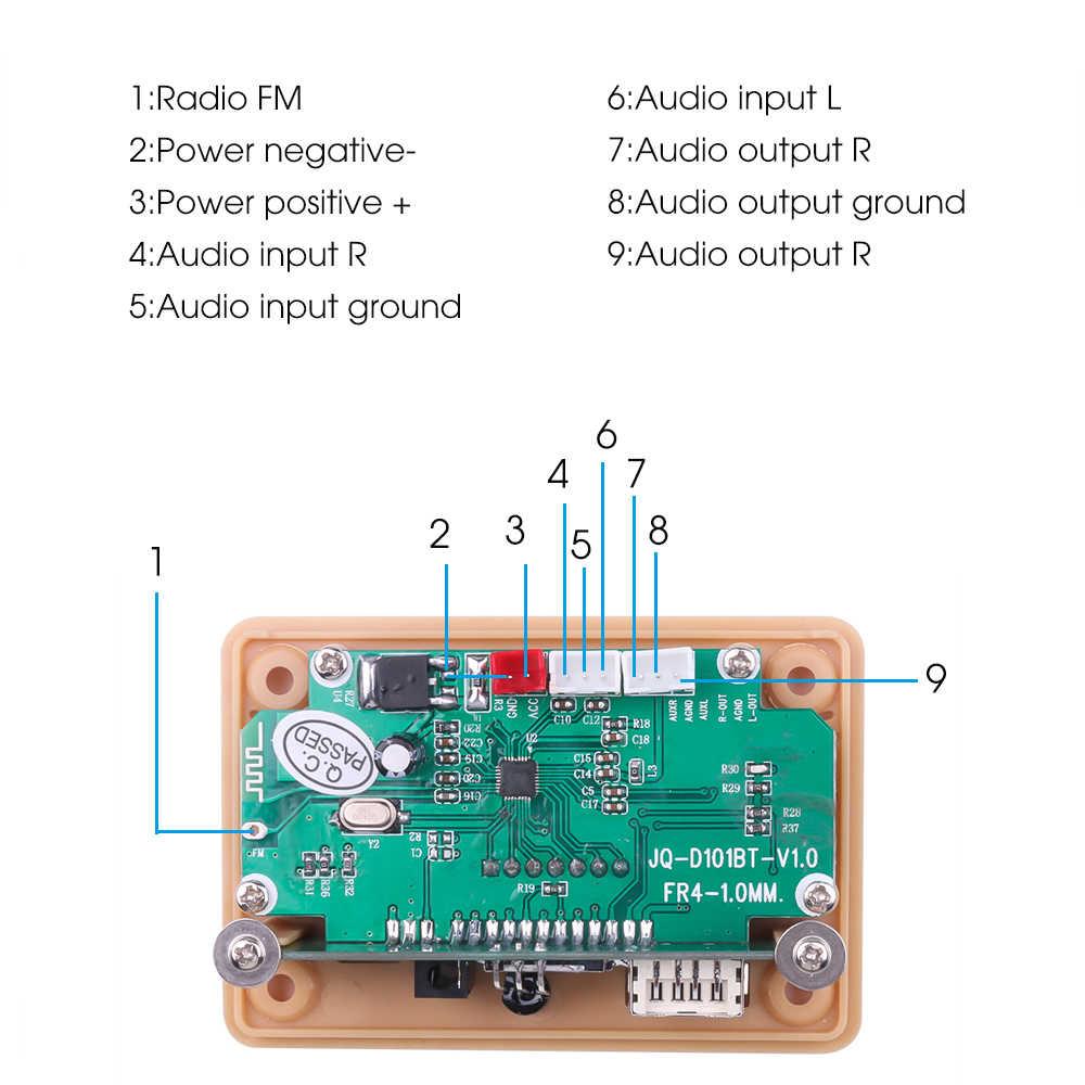 بلوتوث 5.0 MP3 فك فك لوحة تركيبية 5 فولت 12 فولت سيارة USB مشغل MP3 WMA WAV TF فتحة للبطاقات/USB/FM لوحة تركيبية عن بعد