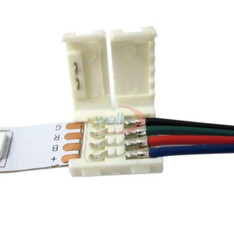 5-100 шт RGB Разъем 2pin 3pin 4pin 5pin Соединительный кабель для светодиодной ленты WS2811 WS2812B 5050 RGB RGBW