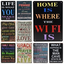 Get more info on the 30X20cm Man Cave Family Life Tin Signs Bar Pub Cafe Home Wall Decor Vintage Metal Plaque Rerto Plate Poster Kitchen Rules H82