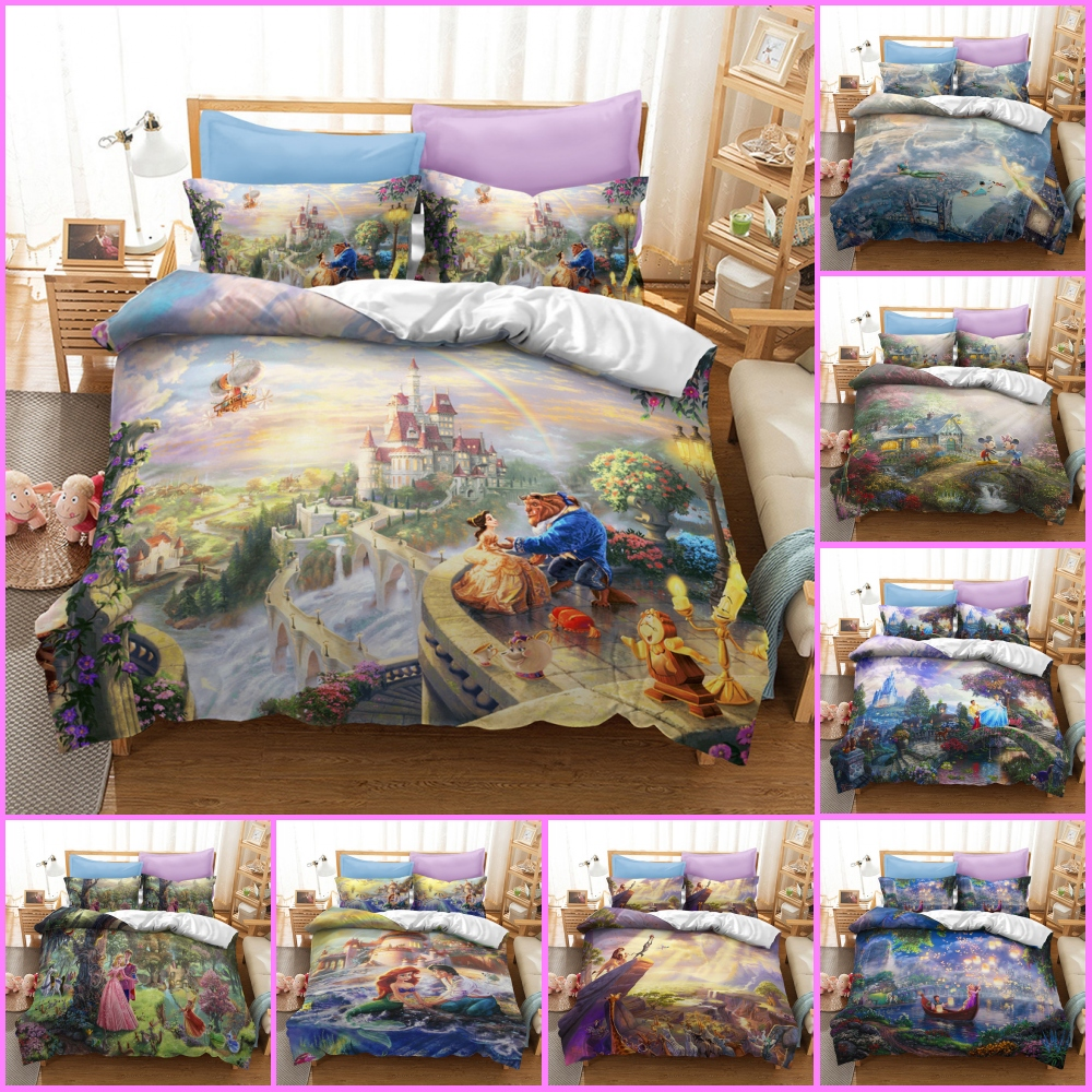 Beauty And The Beast Disney Collection Bedding Set Belle Princess Quilt Duvet Cover For Kids Bedroom Linens Decor Single Size Special Price Ef8bb Cicig
