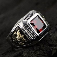 Thai court shall Oriental Vibrations retro silver rings for men 925 sterling silver ring inlaid crystal male ov oriental vibrations ring male female