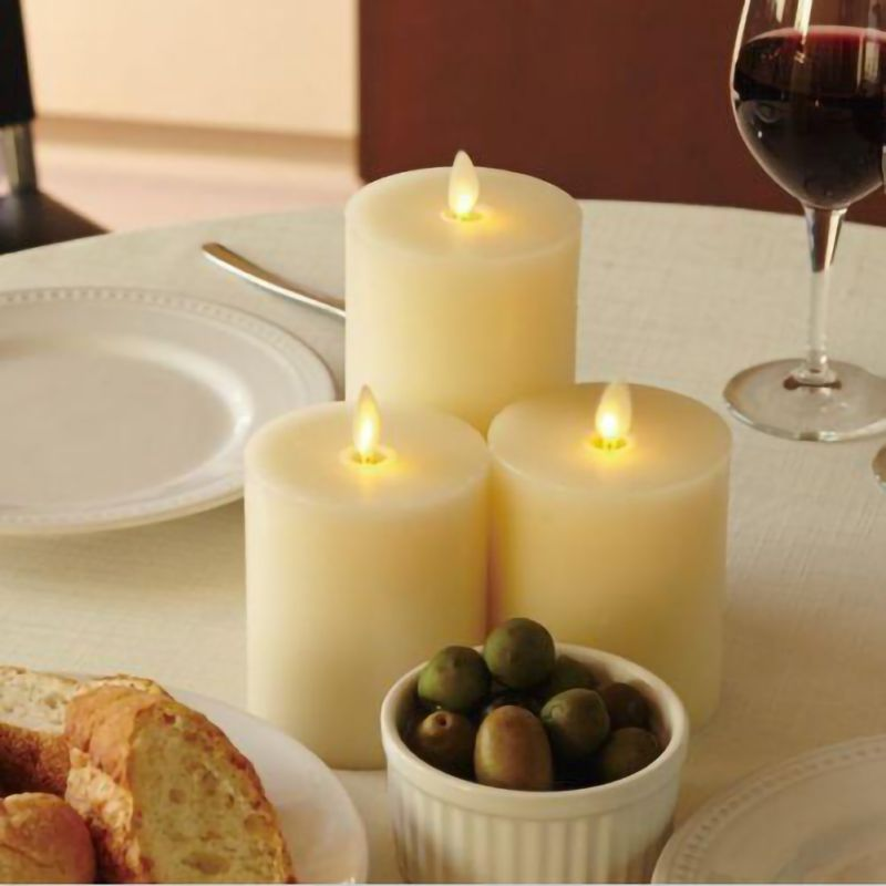 LED electrónico velas sin llama luces de velas a batería fiesta boda cumpleaños Festival romántico regalo de San Valentín - 5