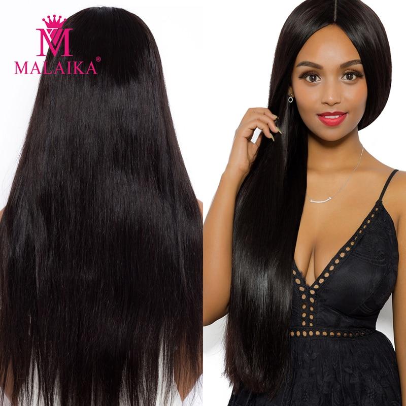 MALAIKA 10A Full Lace Human Hair Wig  Straight Virgin 13x4 Swiss Lace Front Human Hair Wigs With Brazilian Hair