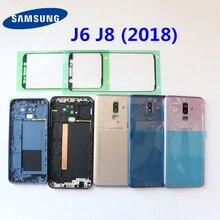 SAMSUNG Galaxy J6 2018 J600 J600F J8 2018 J810 J810F Back Battery Cover Door Rear Plastic Housing Case Replace Battery Cover