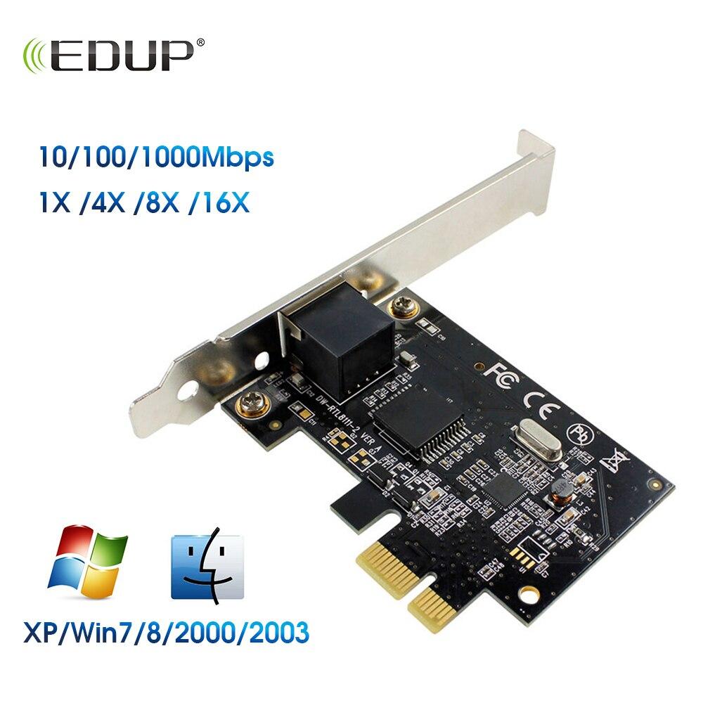 EDUP 1000Mbps Gigabit Ethernet PCI Express PCI-E Network Card 10/100/1000M RJ-45 LAN Adapter Converter Network Controller