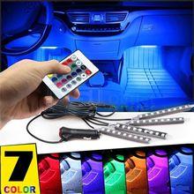 Многоцветный Автомобильный интерьер атмосферный неоновый светильник