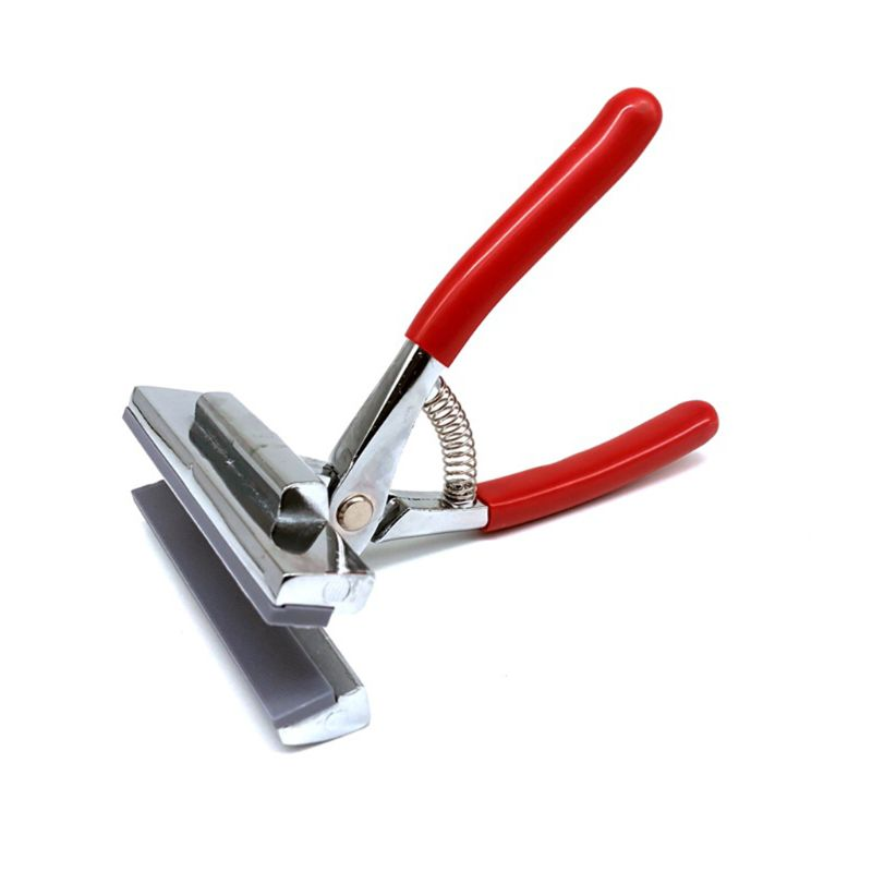 12cm Oil Painting Pliers Clamp with Red Handle Stretched Canvas Cloth Fabric Wide Jaw Stretch Tool for Advertising Print
