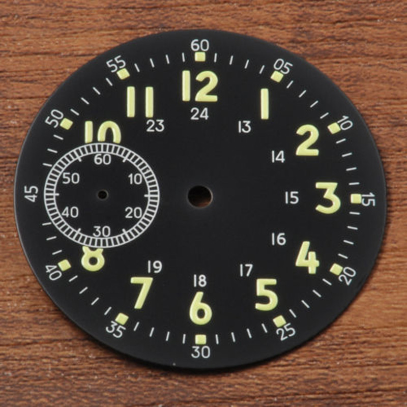 39mm Sterial Black watch Dial fit eta 6497 <font><b>st3600</b></font> movement Corgeut watches image