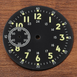 39mm Sterial Black watch Dial fit eta 6497 st3600 movement Corgeut watches