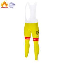 2020 UAE Team de france champion pantaloni bici uomo Winter long bicycle pants team 20D gel pad cycling tights men