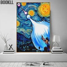 Art Painting Van Gogh'S Anime Goku Abstract Canvas Painting Posters And Prints Teen Bedroom Wall Decoration Painting