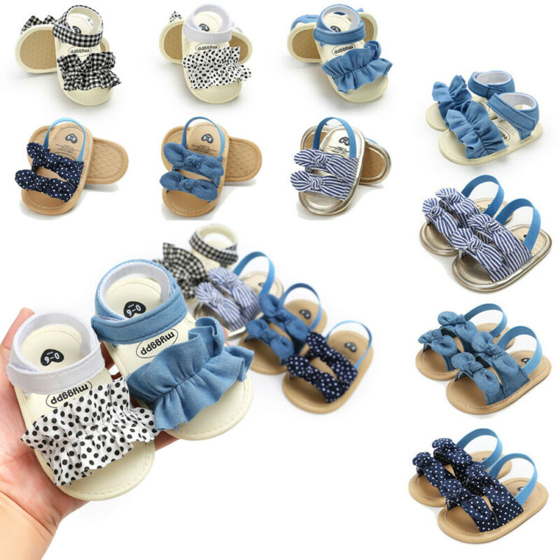 PUDCOCO Fashion Kids Infant Baby Girl Sandals Floral Party Princess Sandals Summer Beach Shoes 0-18M