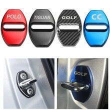 4pcs Car Styling Door Lock Cover for Volkswagen VW Golf Polo CC Bora Passat 7 MK2 MK3 MK4 MK7 Jetta TIGUAN GTD Sticker Accessory