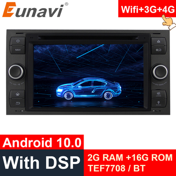 цена на Eunavi 2 Din Android 10 Car Multimedia Radio GPS DVD For Ford Mondeo S-max Focus C-MAX Galaxy Fiesta transit Fusion Connect kuga