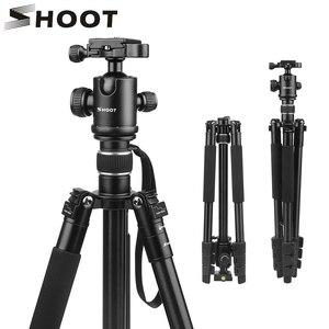 Image 1 - לירות קל משקל מקצועי צילום נייד אלומיניום סגסוגת מצלמה חצובה חדרגל Stand כדור ראש עבור מצלמה דיגיטלית