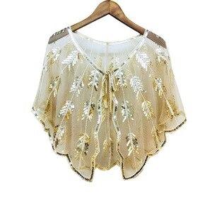 Image 3 - Châles boléro de mariée en Tulle, 9 couleurs, Cape de mariage pour robe de soirée, enveloppe de veste boléro pour femmes