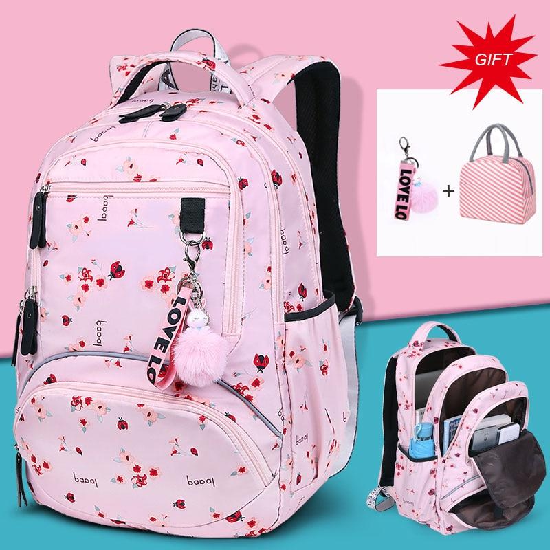 Large Capacity Schoolbag Student School Backpack Floral Printed Primary School Bags Bookbags For Teenage Girls Kds Backpack