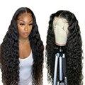 Парик Shireen на шнуровке из кудрявых человеческих волос 4x4, парик из перуанских волос на шнуровке для черных женщин, волосы без повреждений, пр...