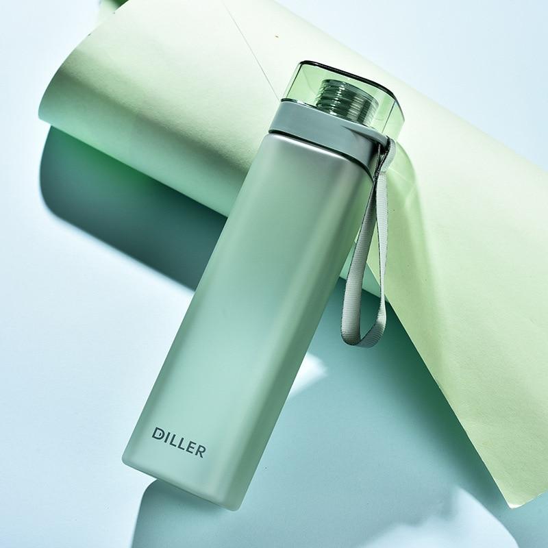 Портативные бутылки для воды протеиновый шейкер, спортивные дорожные бутылки для воды, герметичная пластиковая посуда для горячего напитк...