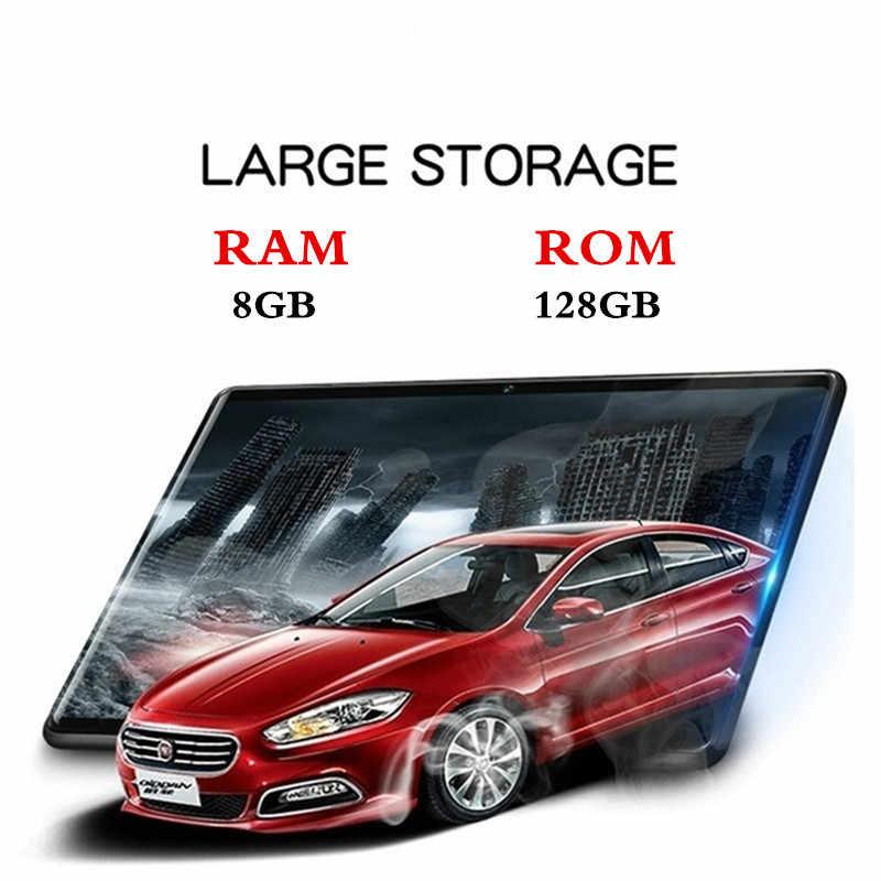 2020 Nieuwe Google Play Android 9.0 10.1 Inch Tablet Octa Core 8 Gb Ram 128 Gb Rom 2.5D Glas Wifi tabletten Dual Sim-kaart 3G 4 Glte Gps