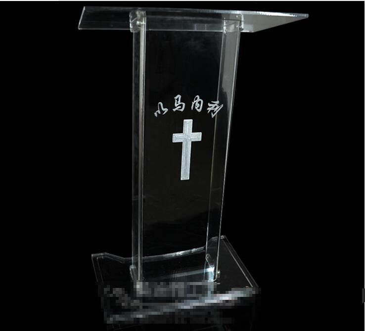 Free Shipping Logo Customize Hot Sale Modern Detachable Acrylic Podium Church