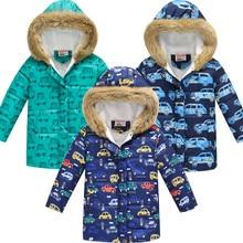 Children's Windproof Down Coat Boys Winter Cotton Thick Jack