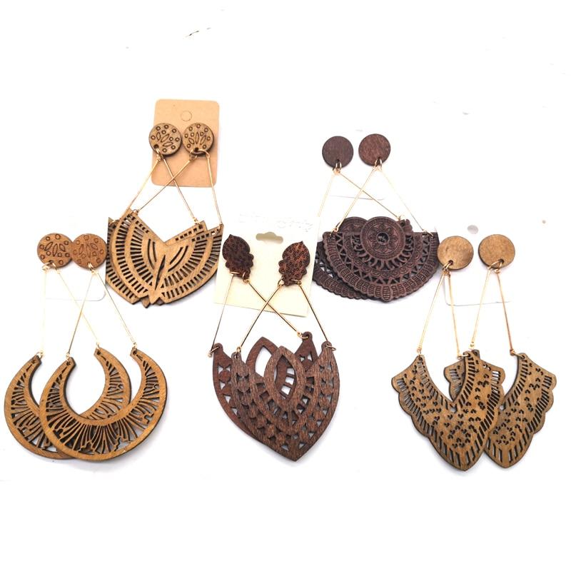 ¡Pocas existencias! Pendientes de aro africanos pueden mezclar 5 diseños