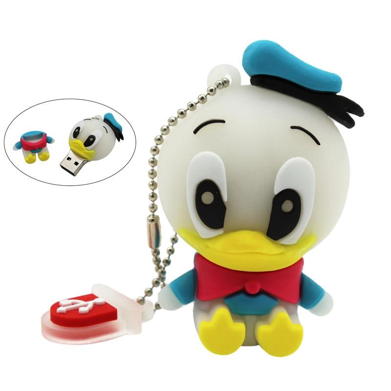 TEXT ME Cartoon Usb 2.0 Animal Duck Style 4GB 8GB 16GB 32GB 64GB Pen Drive USB Flash Drive Creative Usb Stick Pendrive