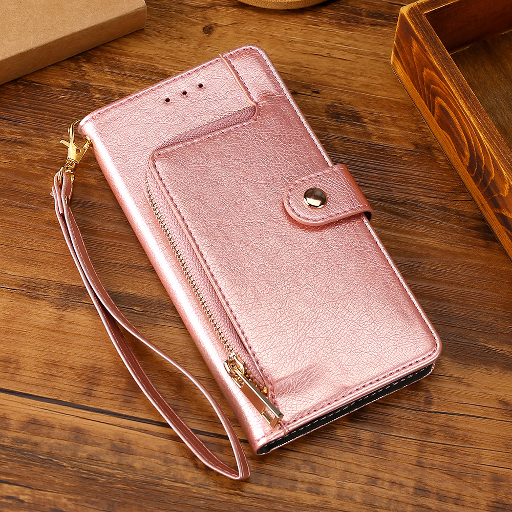 Zipper Leather Phone Case For <font><b>Samsung</b></font> Galaxy A5 <font><b>A7</b></font> <font><b>2017</b></font> J4 J5 J7 Neo <font><b>2017</b></font> J7 Prime J4 2018 S6 S9 S10 Plus A50 <font><b>Flip</b></font> Wallet Cover image