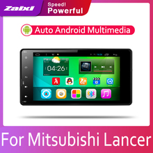 ZaiXi 2din Car multimedia Android Autoradio Radio GPS player For Mitsubishi Lancer 2013~2019 Bluetooth Mirror link Navi