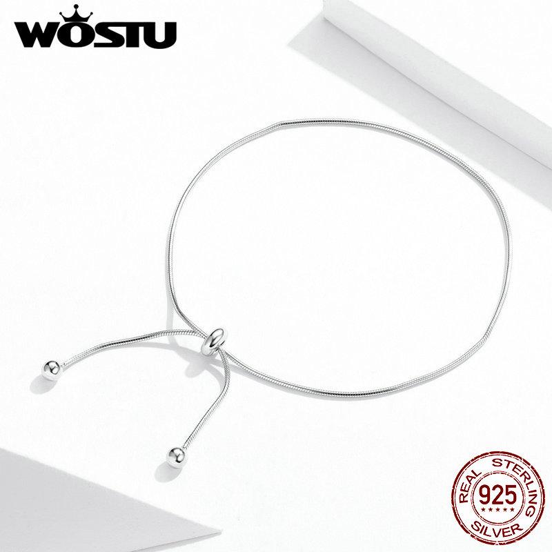 WOSTU 2020 Charming 925 Silver Stylish Bracelet Anklet Foot Jewelry Women Ankle Leg Jewelry Chain Bracelet Fashion Jewelry