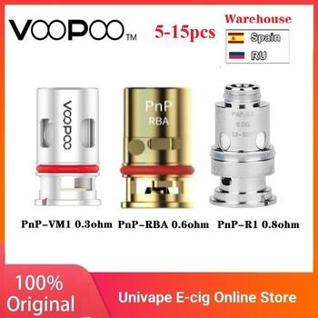 Oryginalny 5-15 sztuk VOOPOO PnP cewki 0 3ohm 0 8 ohm cewka z siatką 0 6ohm RBA cewka dla VOOPOO VINCI R Vinci X VINCI Mod Pod zestaw tanie i dobre opinie VOOPOO PnP-VM1 Mesh Coil DS NC 5pcs pack PnP-VM1 0 3ohm