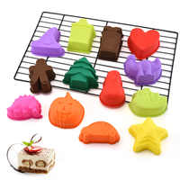 Candy-colored silicone cake mold Christmas handmade DIY dessert biscuit pudding  baking supplies