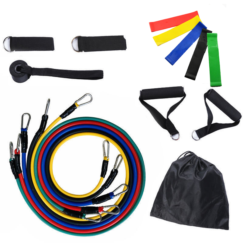 Resistance Bands Set Expander Yoga Exercise Fitness Rubber Tubes Band Stretch Training Home Gyms Pull Rope Indoor