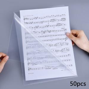 50 шт. A4 креативный l-образный прозрачный файл данных защитный чехол папка для Портфолио ПВХ Сумка для документов школьный офис поставка
