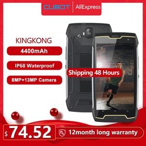 Image 1 - Cubot KingKong IP68 Waterproof Rugged Smartphone 4400mAh Big Battery 3G Dual SIM Android 7.0 2GB RAM 16GB ROM Compass+GPS MT6580