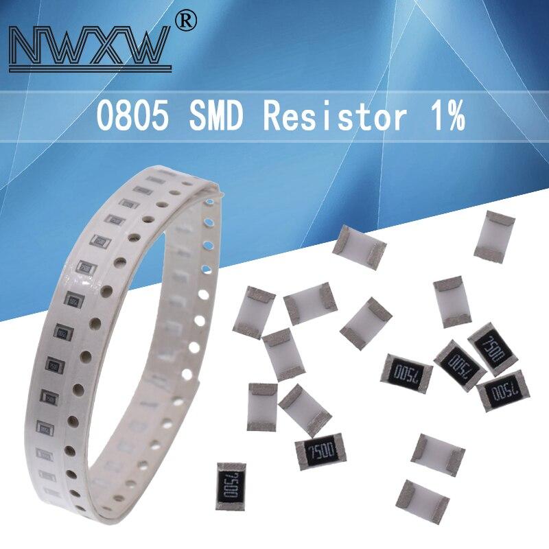 100 шт. 0805 SMD 1/8 Вт 0R ~ 10M 1% чиповый резистор 0 10R 100R 220R 330R 470R 47 10 1K 4,7 K 100K 0 10 100 330 470 Ом